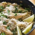 Salsa Verde Chicken and Rice Skillet