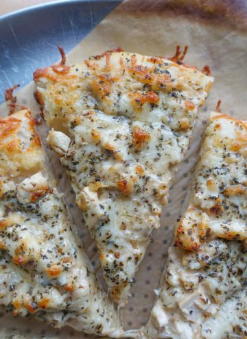 Brown Butter Alfredo Chicken Pizza
