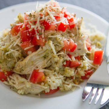 Pesto Chicken and Rice Casserole