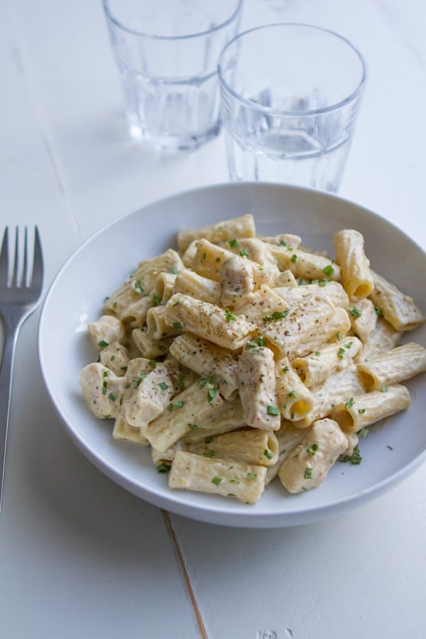 Pesto Alfredo Chicken Pasta