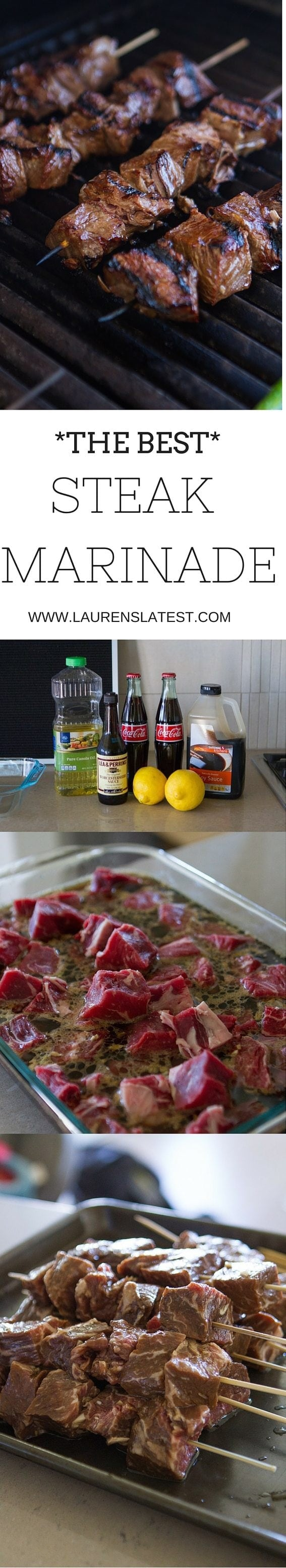 Holy moly, this is the best steak marinade EVER! If you want tender, juicy and flavorful meat every time, this is the steak marinade recipe for you.