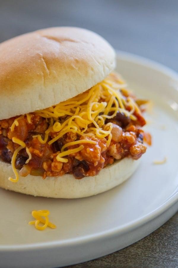 Taco Sloppy Joe on a white plate