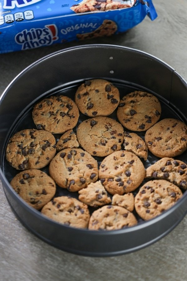 Cookies at the bottom of a springform pan