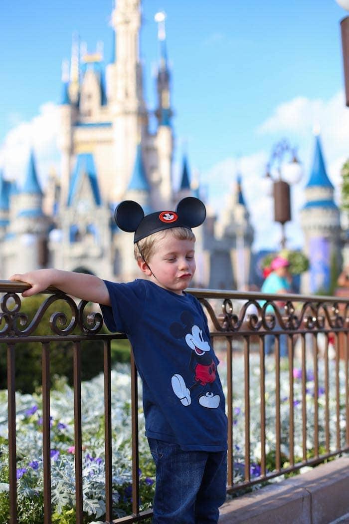 Blake with Mickey ears on