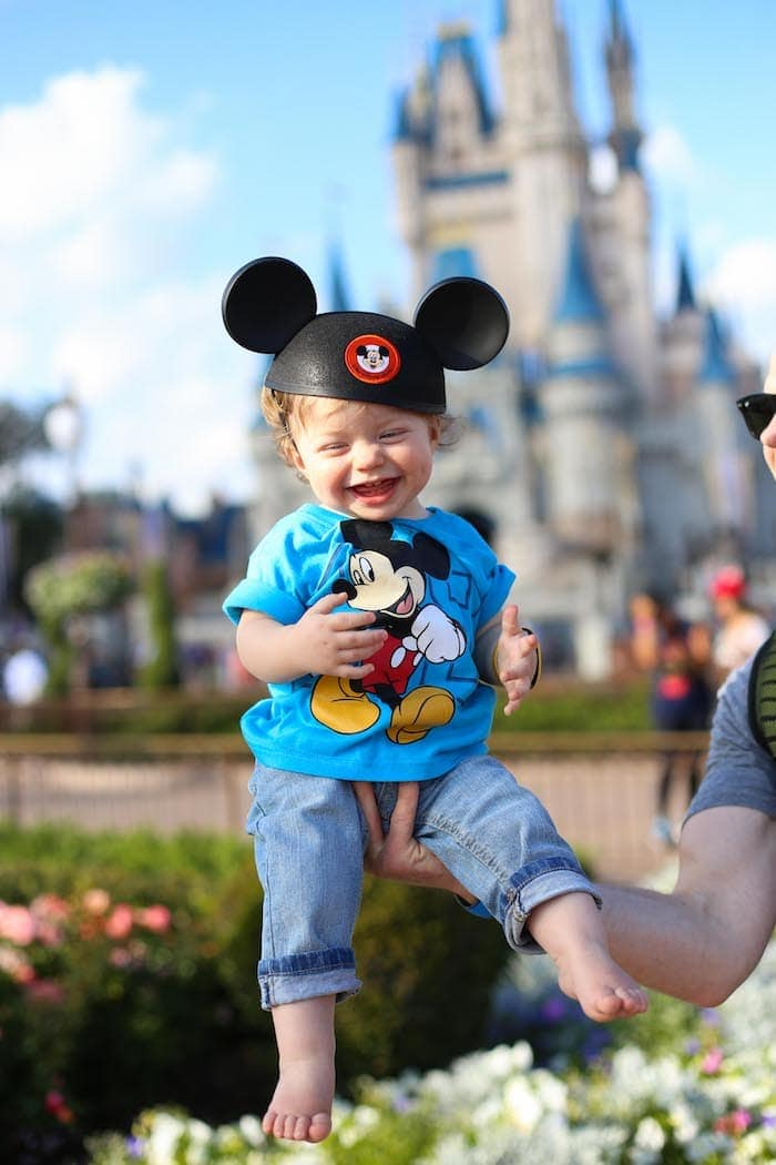 Eddie with Mickey ears on