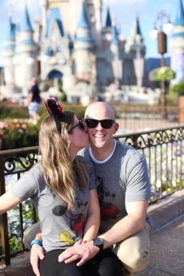 Lauren and Gordon at Disneyland