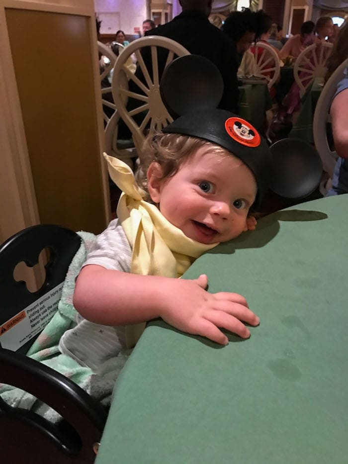 Eddie sitting at a table