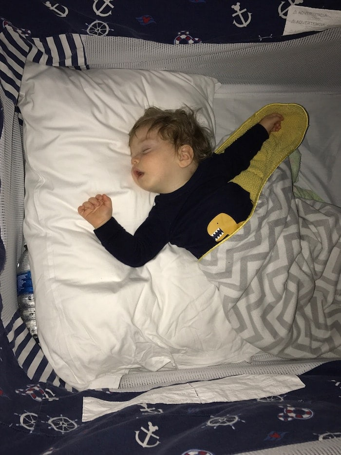 A boy lying on a bed