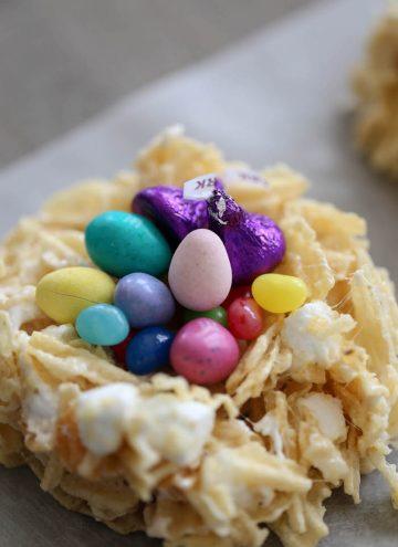 Marshmallow Potato Chip Easter Nests