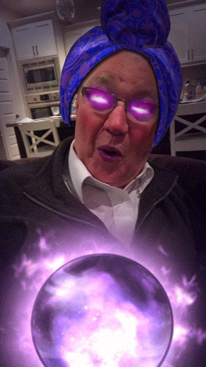 Lauren\'s dad with a filter