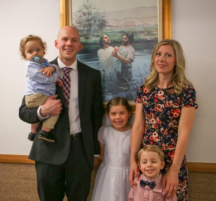 Brennan family at church