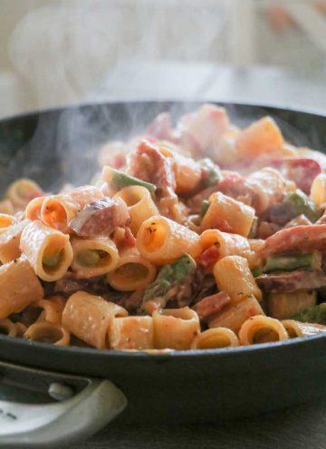 Smoked Sausage Asparagus Pasta