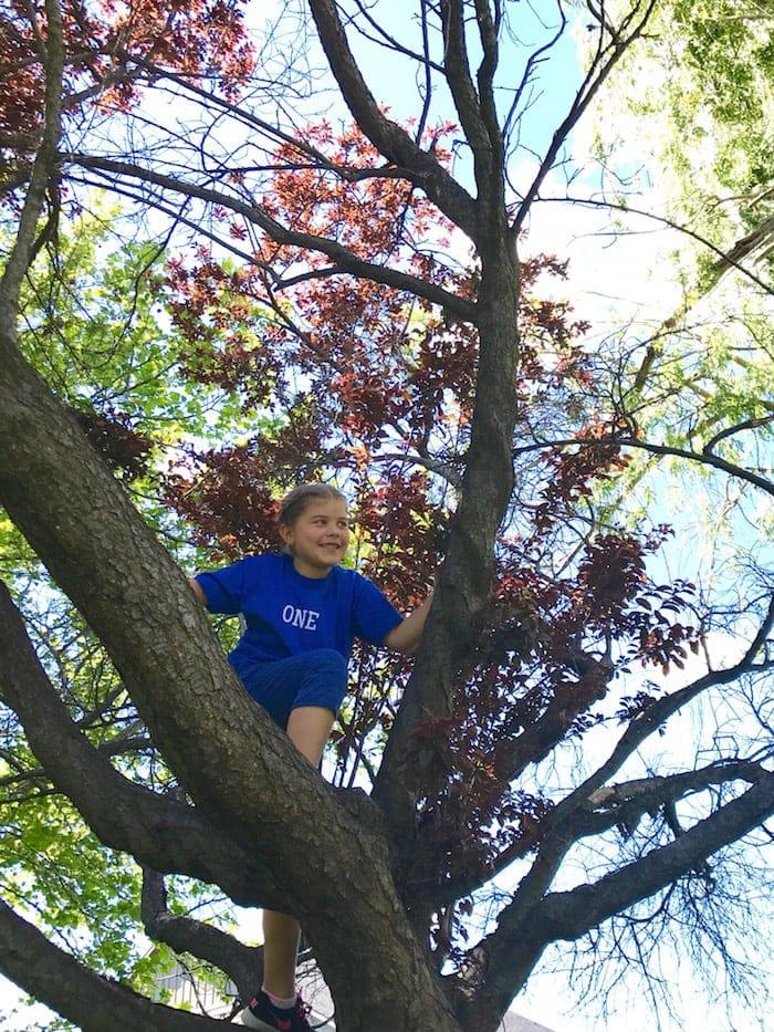Brooke sitting in a tree