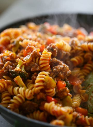 Italian Sausage & Peppers Pasta