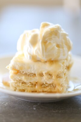 Salted Caramel Ritz Cracker Ice Box Cake