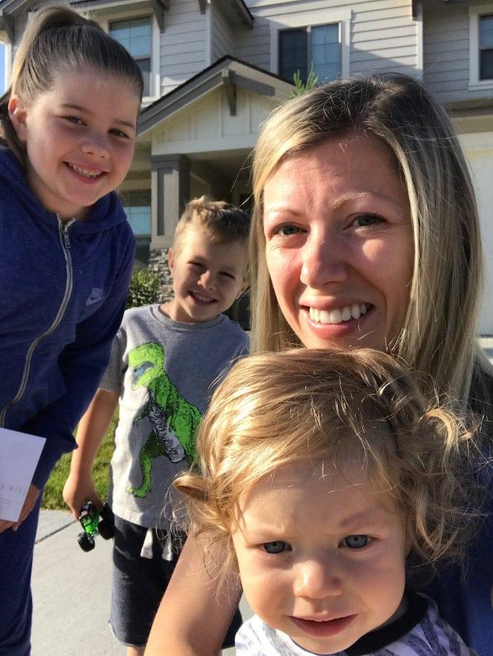 Lauren with the kids