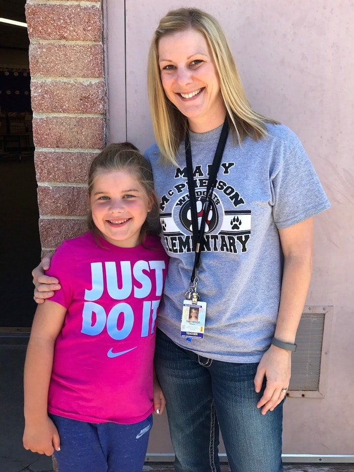 Brooke with her teacher