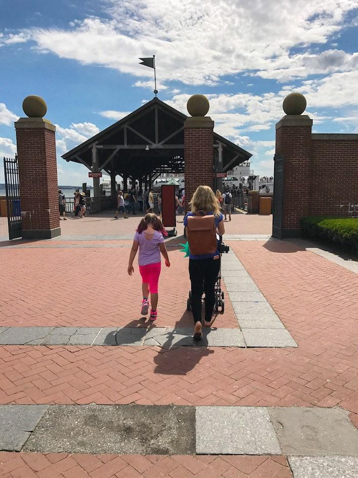 Lauren walking with the kids