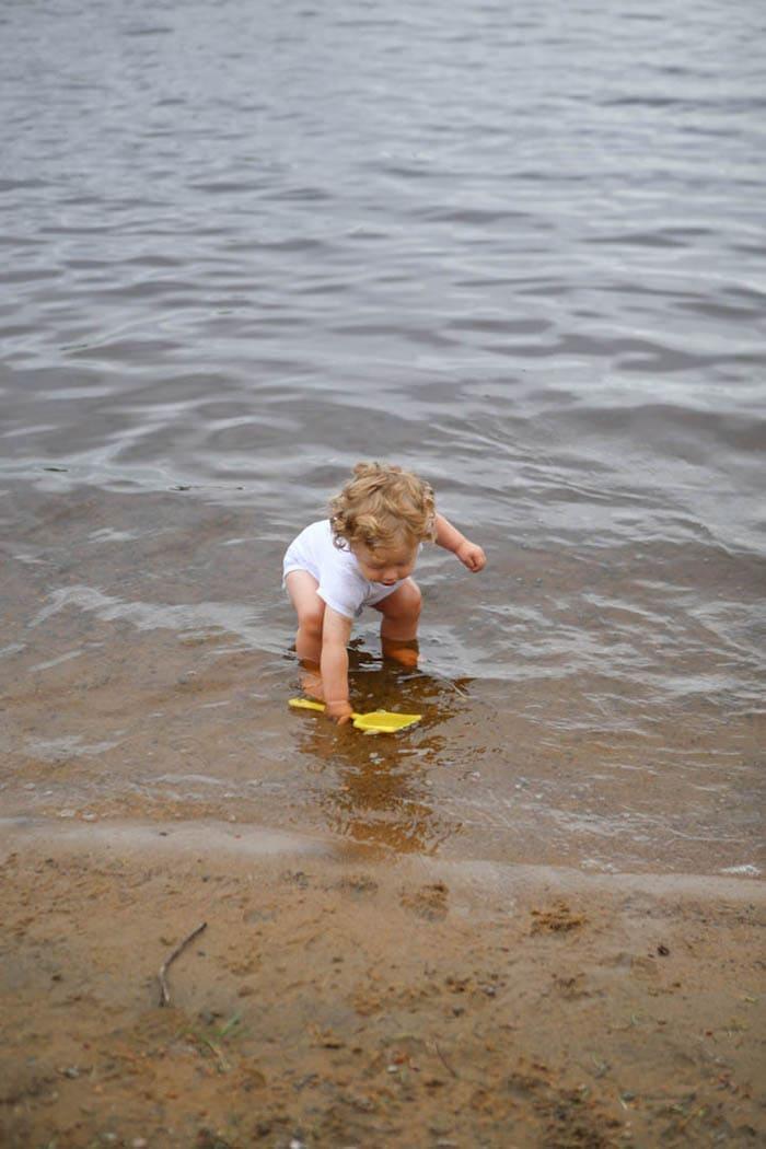 Eddie at the shore