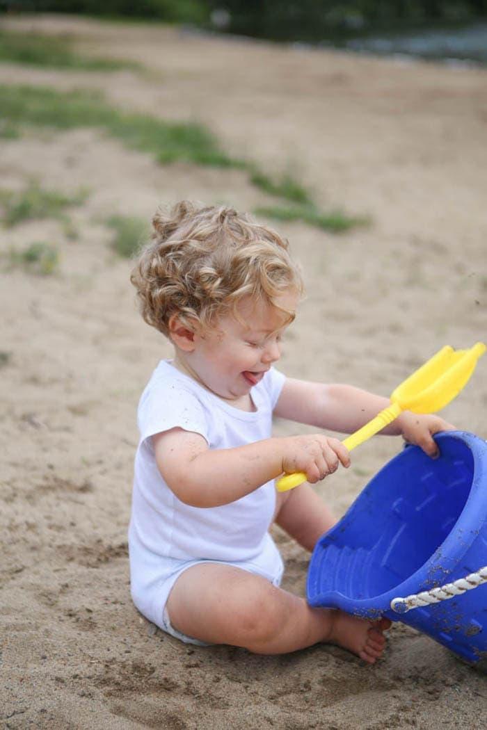 Eddie in the sand