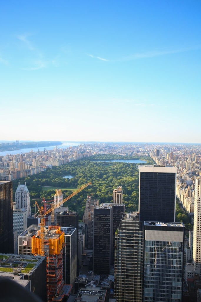 A view from the top of the Rockefeller building