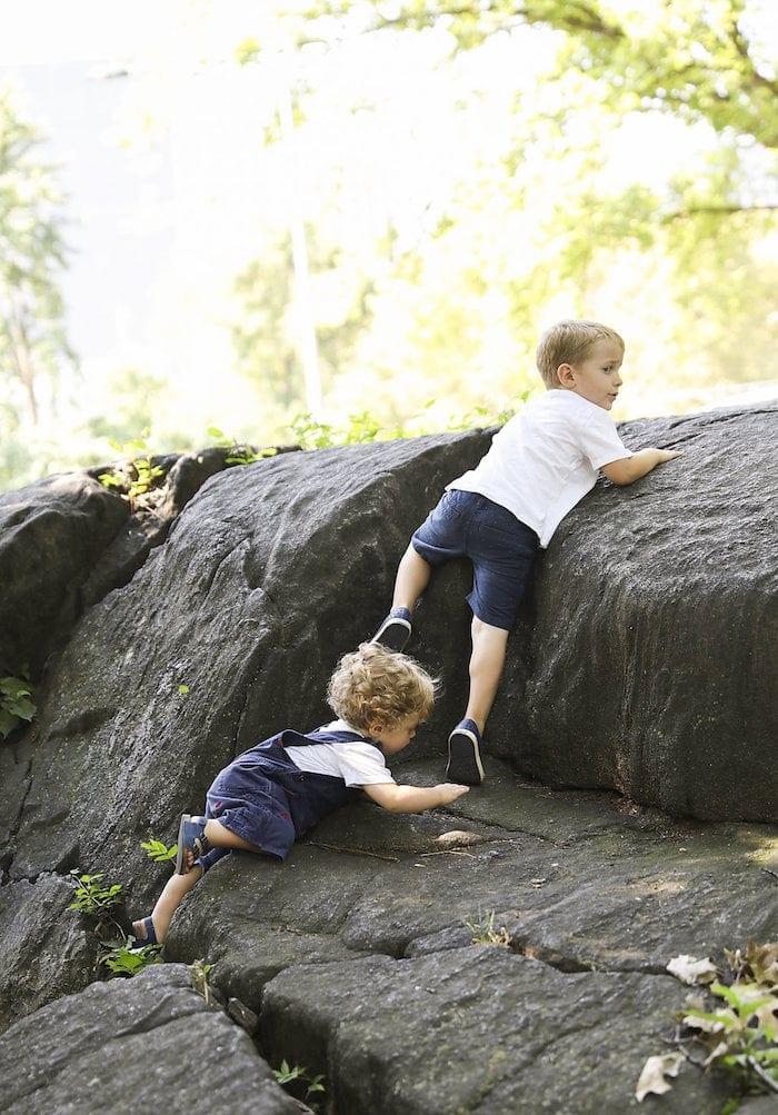 Blake and Eddie climbing