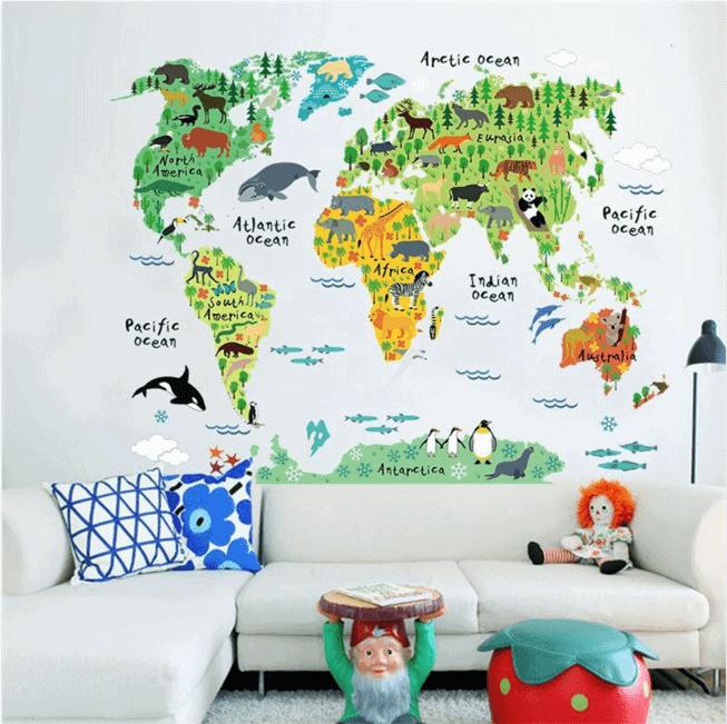 World map vinyl