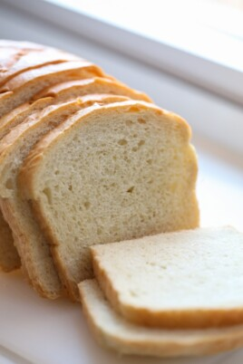 Sliced homemade bread