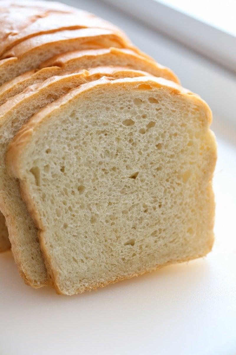 Squishy White Bread Recipe : Soft White Sandwich Bread