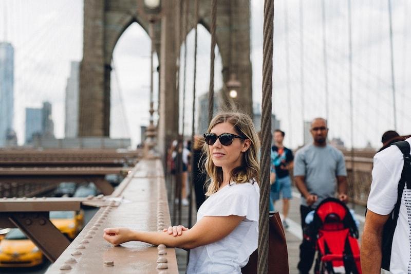 Lauren on a bridge