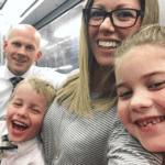 Brennan family on the train