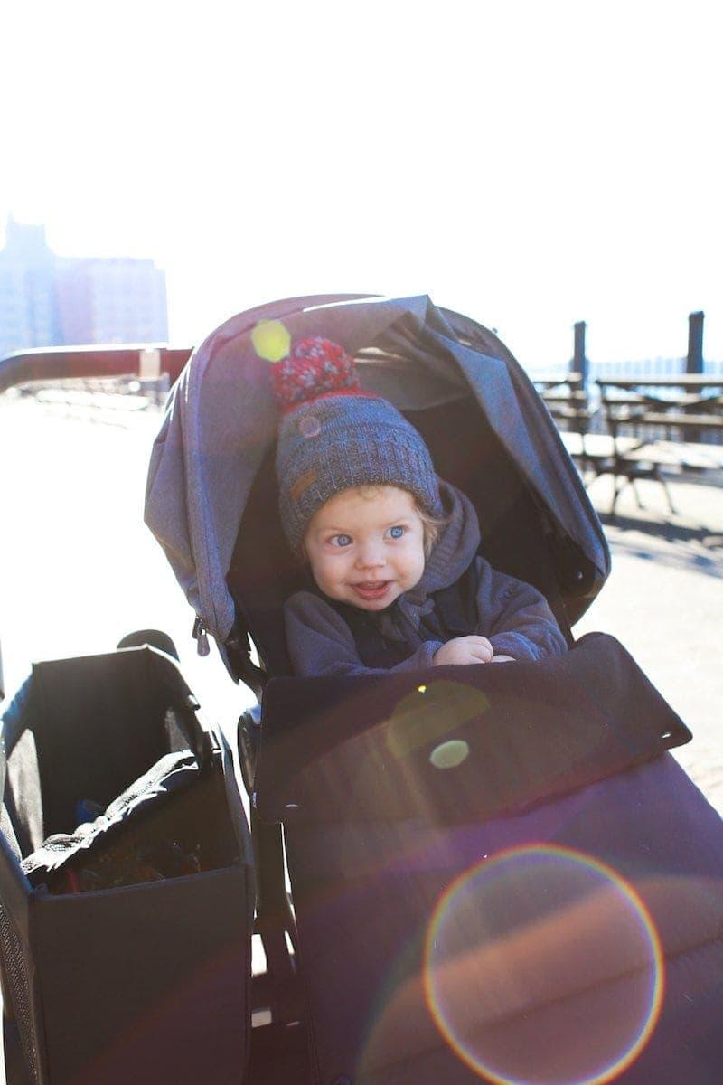 Eddie in a stroller