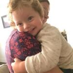 Lauren holding Eddie