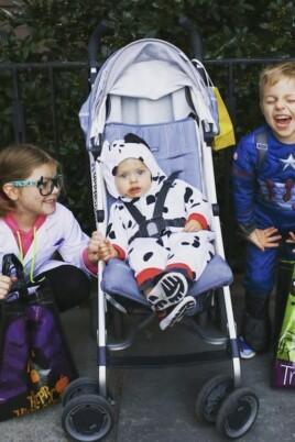 Brennan kids dressed up for Halloween