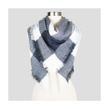 Women's Sylvia Alexander Plaid Scarf - Gray
