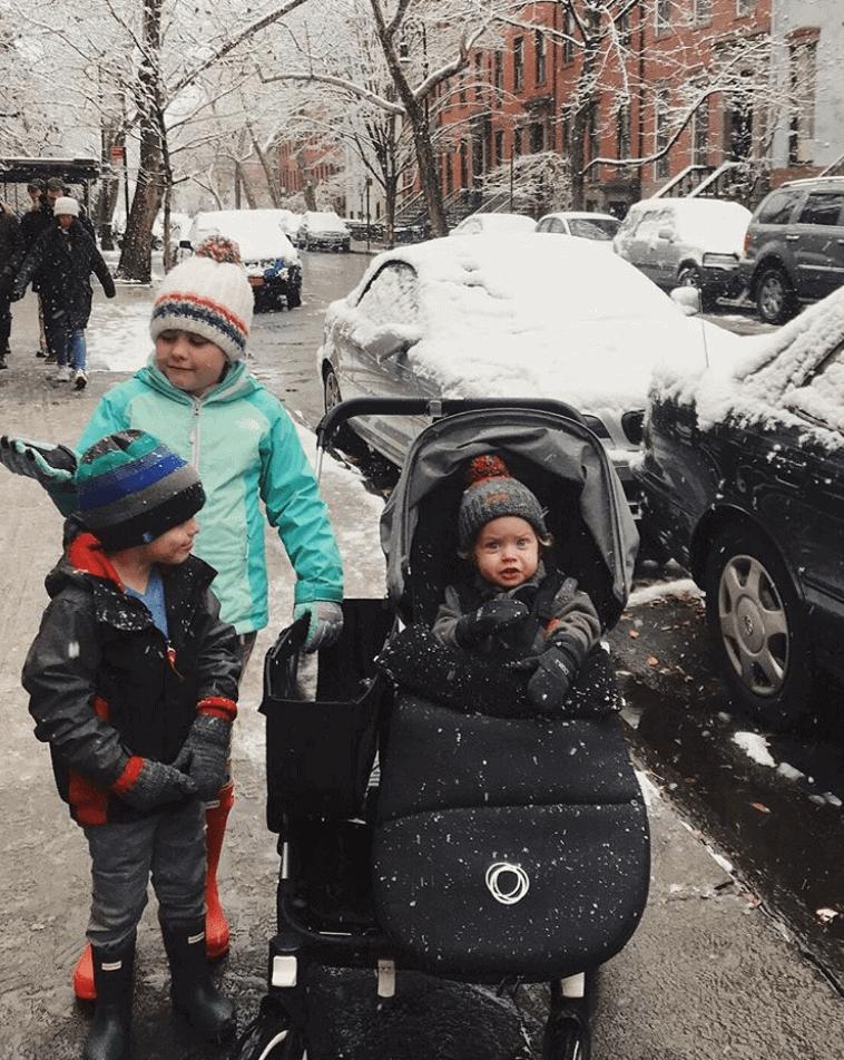 Brennan kids in the snow