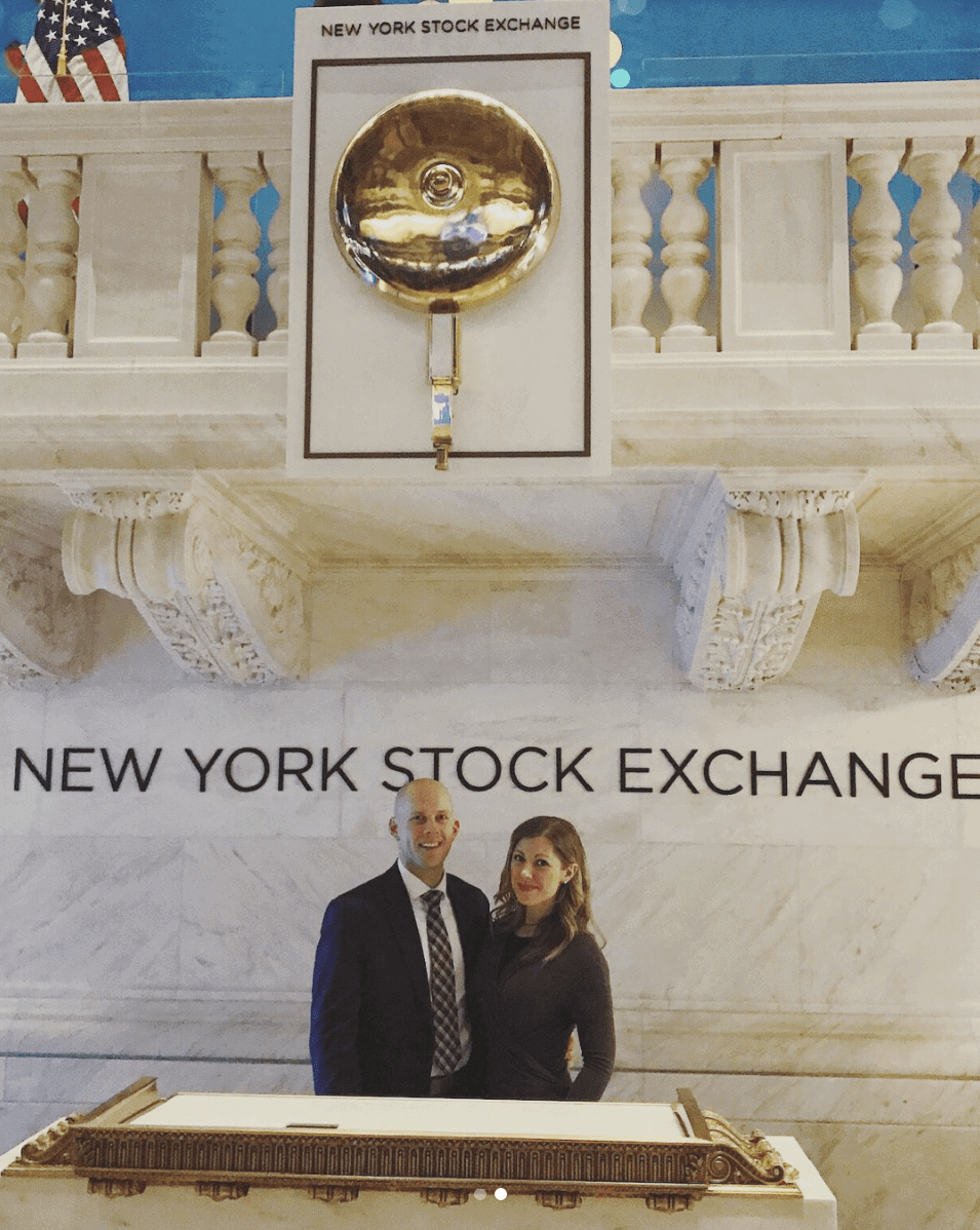 Lauren and Gordon at the NY Stock Exchange