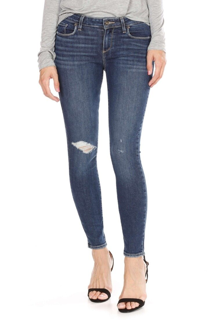 Verdugo Ripped Ankle Skinny Jeans