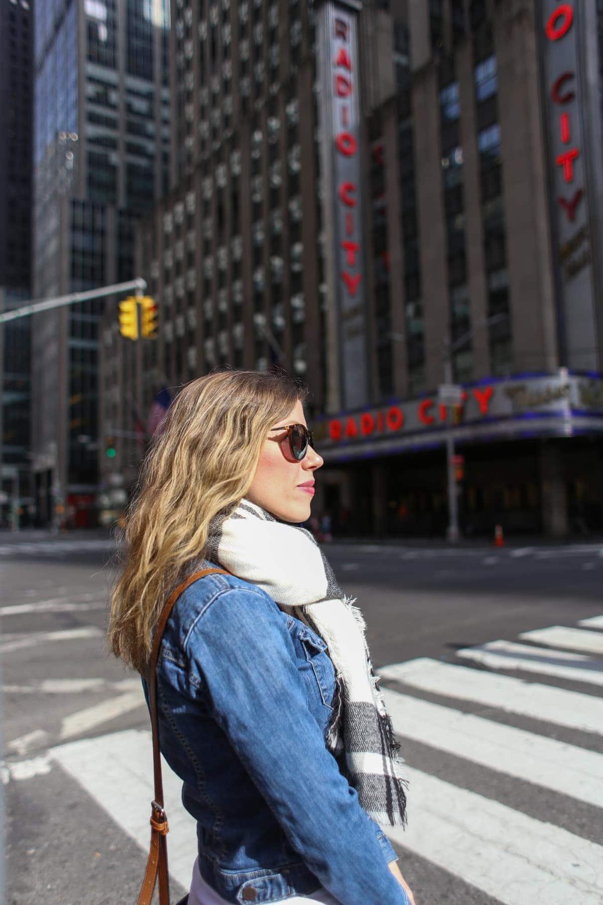 Lauren next to Radio City Music Hall