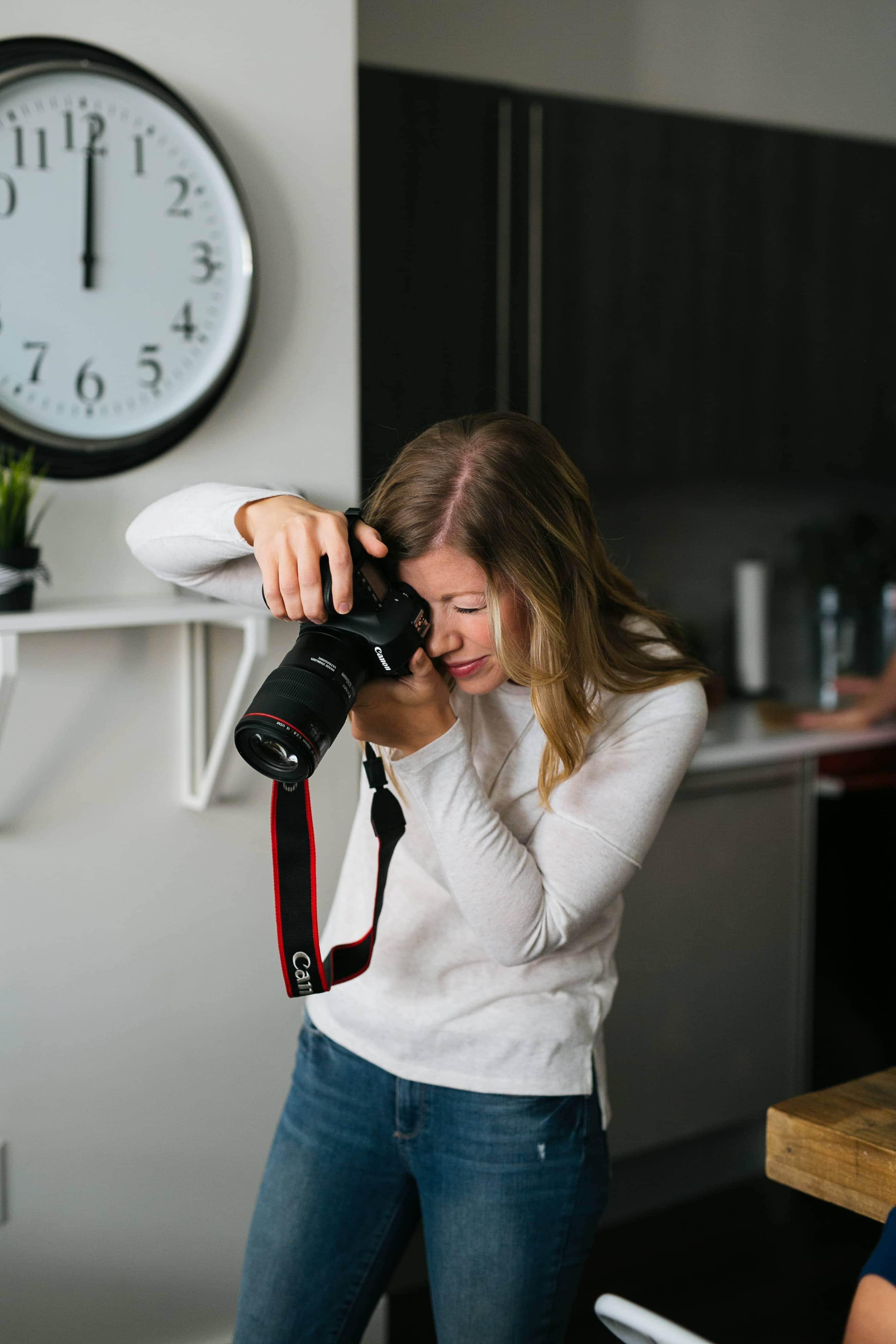 Lauren taking photos
