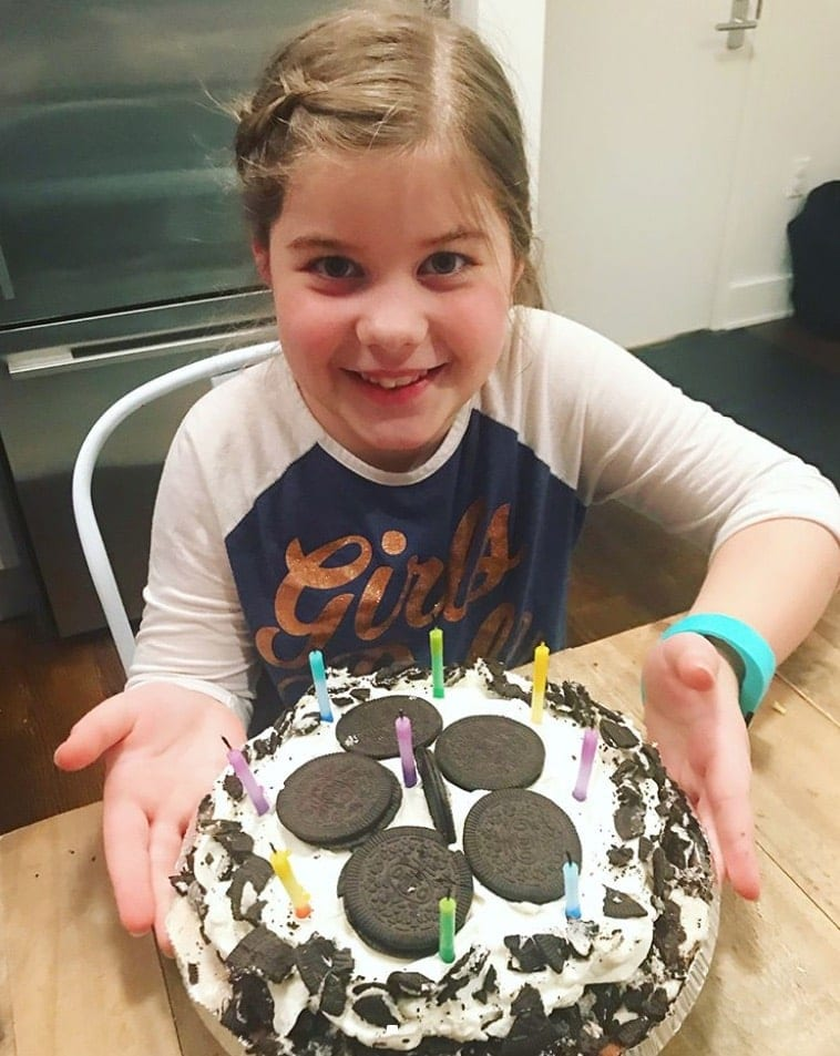 Brooke with her birthday cake