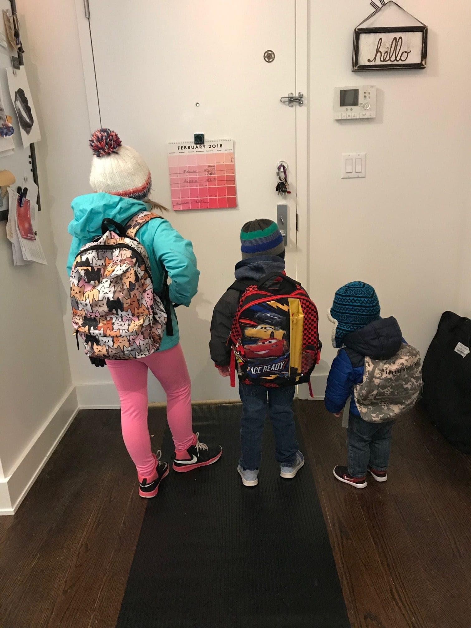 Brennan kids ready to go outside