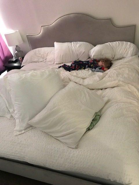 Eddie in bed