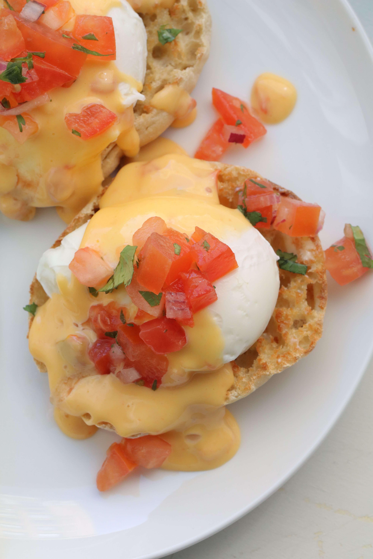 Chile con Queso Eggs Benedict