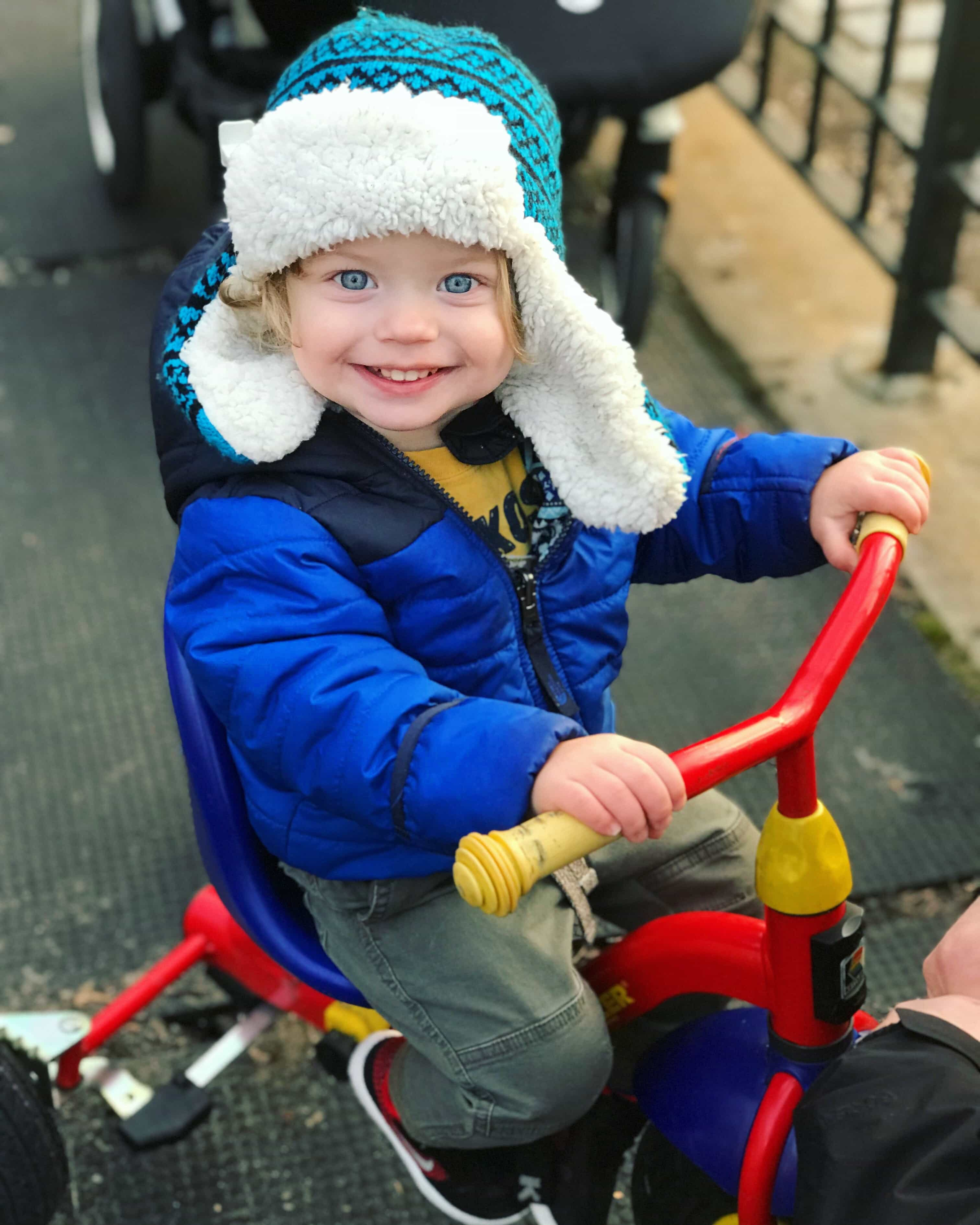 Eddie on a bike