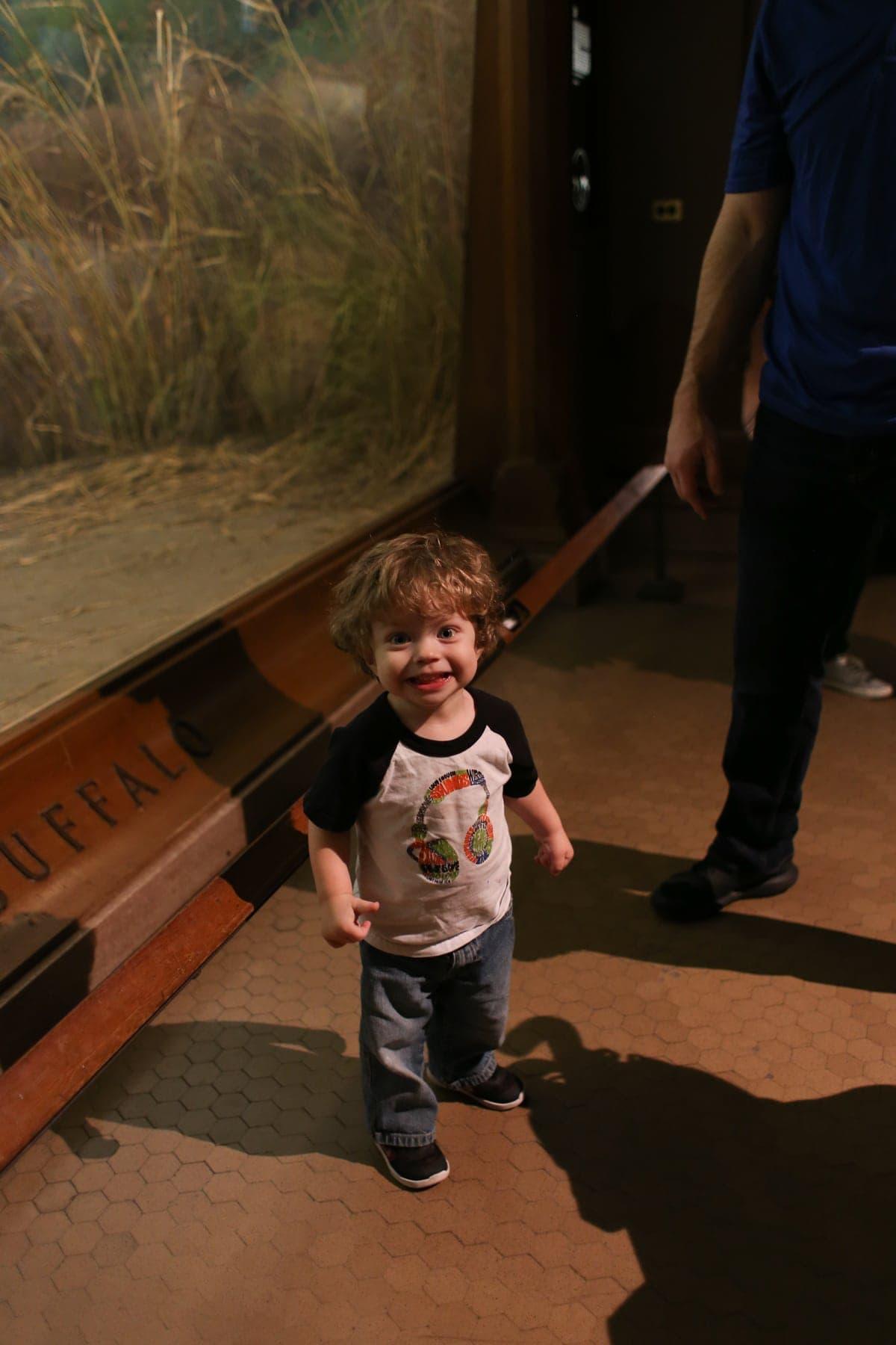 Eddie in the museum