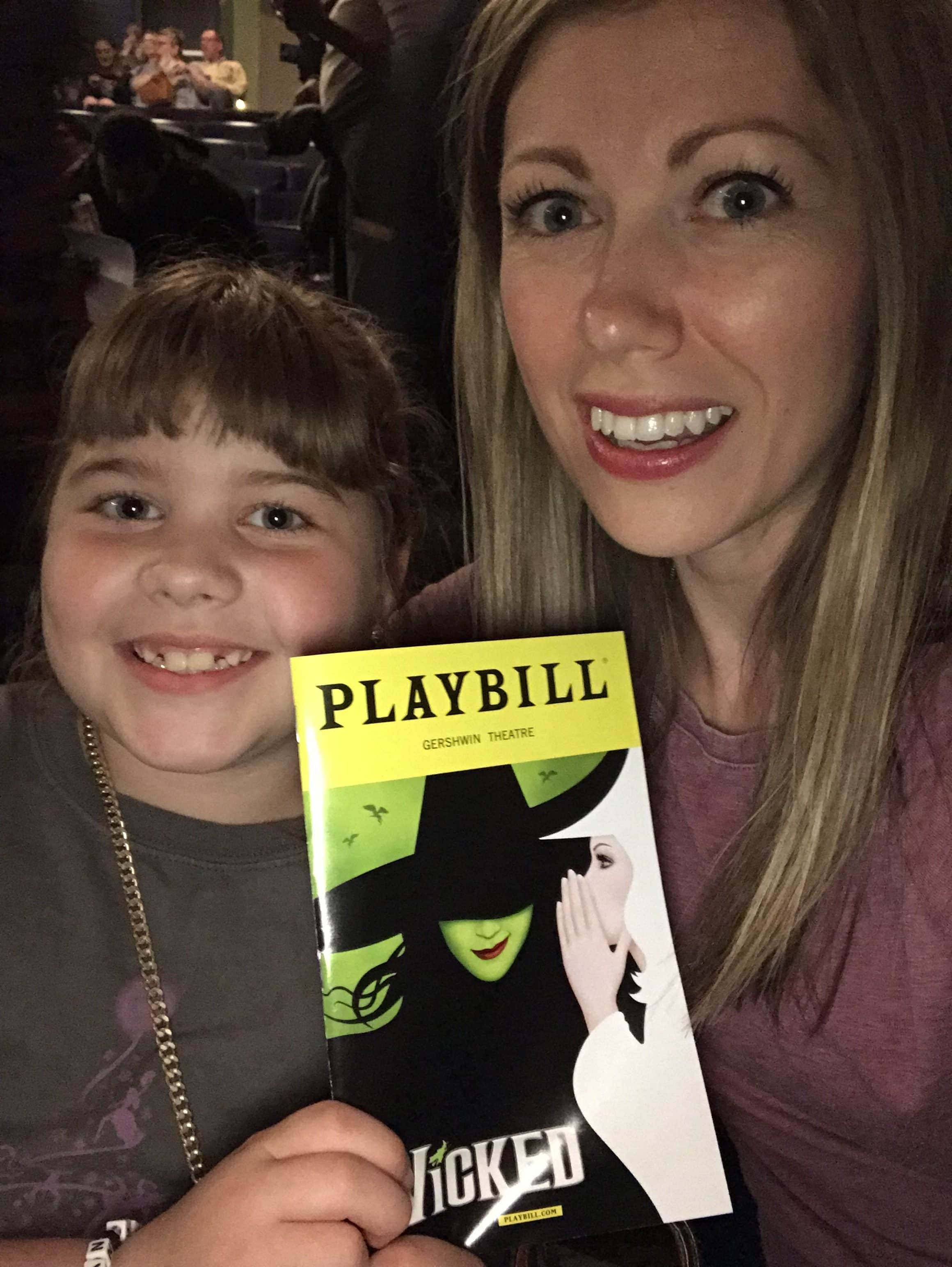 Lauren and Brooke at Wicked