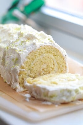 Lemon Swiss Roll Cake