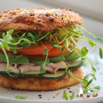 Low Carb Bagel Sandwich