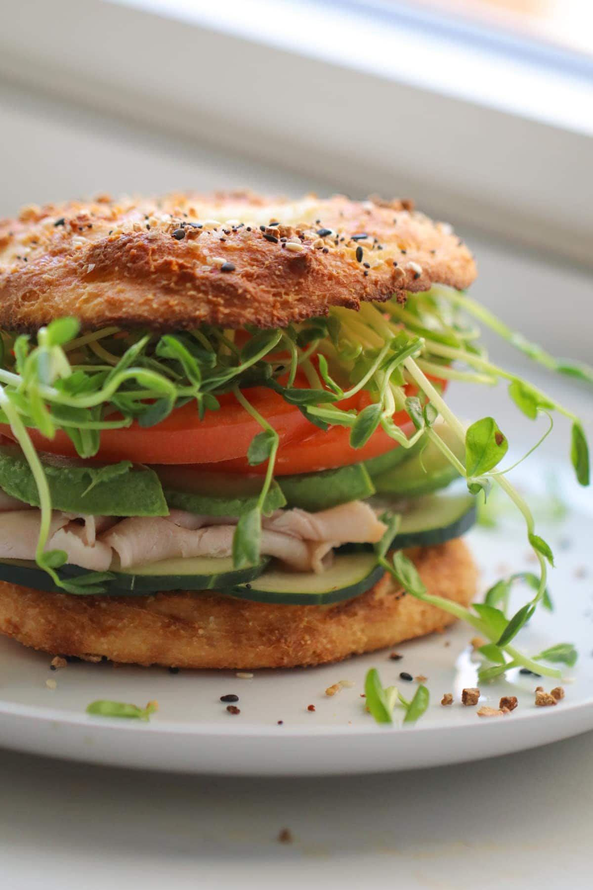 Low Carb Bagel Sandwiches